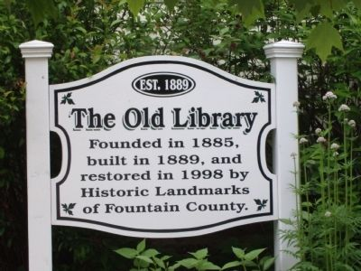 The Old Library Marker image. Click for full size.