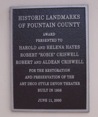 Devon Theater Marker image. Click for full size.
