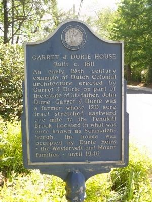 Garret J. Durie House Marker image. Click for full size.