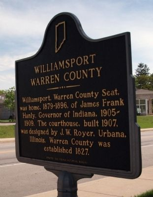 Willaimsport - Warren County Marker image. Click for full size.