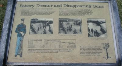 Battery Decatur and Disappearing Guns Marker image. Click for full size.