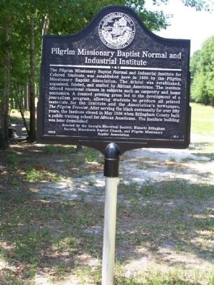 Pilgrim Missionary Baptist Normal and Industrial Institute Marker image. Click for full size.