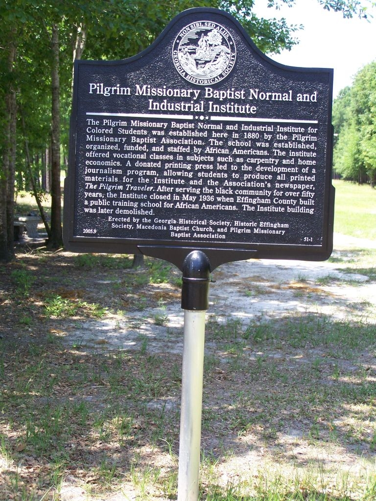 Pilgrim Missionary Baptist Normal and Industrial Institute Marker