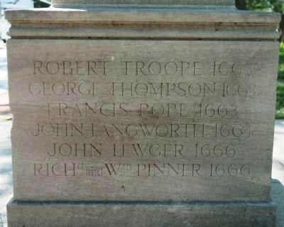 Original Patentees Memorial </b>side image. Click for full size.