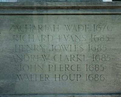 Original Patentees Memorial </b>back image. Click for full size.