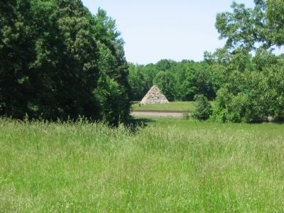 The Meade Pyramid Seen from the Marker Location image. Click for full size.