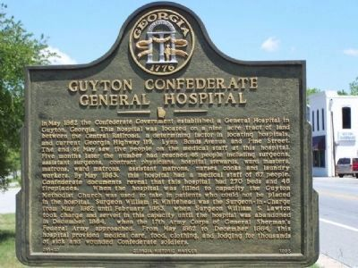 Guyton Confederate General Hospital Marker image. Click for full size.