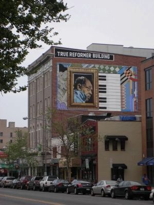 True Reformer Building, west side with Duke Ellington Mural image. Click for full size.