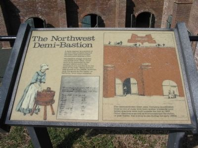 The Northwest Demi-Bastion Marker image. Click for full size.