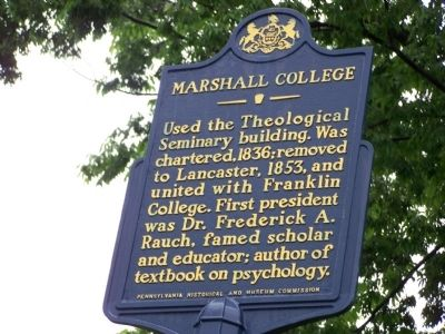 Marshall College Marker image. Click for full size.
