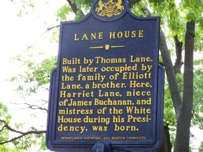 Lane House Marker image. Click for full size.