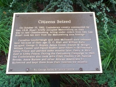 Citizens Seized Marker image. Click for full size.