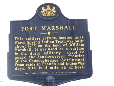 Fort Marshall Marker image. Click for full size.