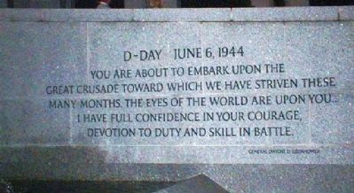 Eisenhower D-Day Quote image. Click for full size.