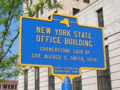 New York State Office Building Marker - Albany, New York image. Click for full size.