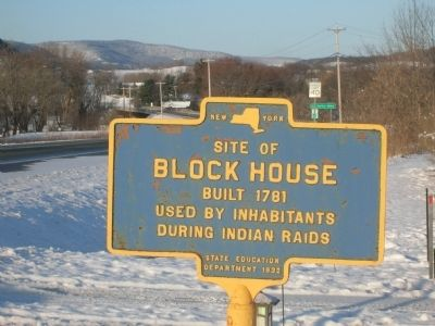 Site of Block House - Near Old Central Bridge, NY image. Click for full size.