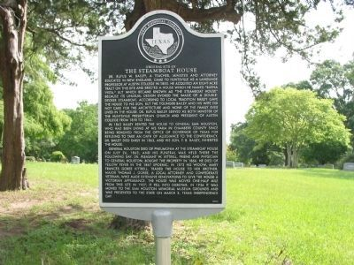 Original Site of The Steamboat House Marker image. Click for full size.