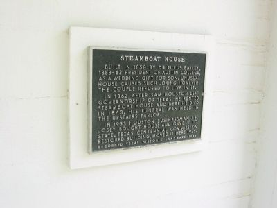 Steamboat House Marker image. Click for full size.