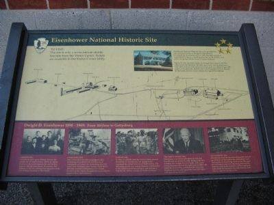 Eisenhower National Historic Site Marker image. Click for full size.