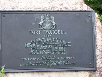 Fort Waddell Marker image. Click for full size.