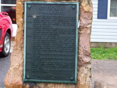St. Thomas Commemorates Marker image. Click for full size.