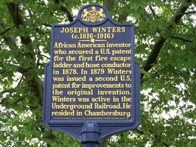 Joseph Winters Marker image. Click for full size.