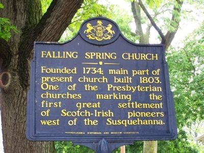 Falling Spring Church Marker image. Click for full size.