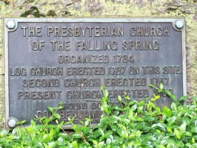 The Presbyterian Church of the Falling Spring image. Click for full size.