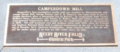 Camperdown Mill Marker image. Click for full size.