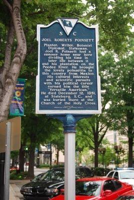 Joel Roberts Poinsett Historical Marker