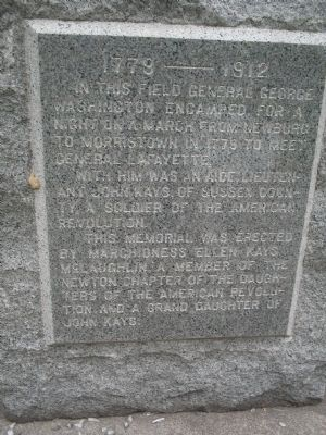 George Washington Encampment Marker image. Click for full size.