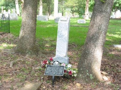 Grave site of Joshua Houston image. Click for full size.