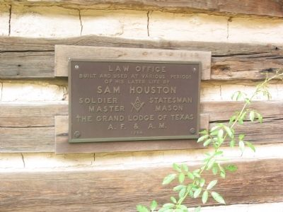 Law Office of Sam Houston Marker image. Click for full size.