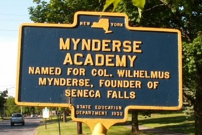 Mynderse Academy Marker image. Click for full size.