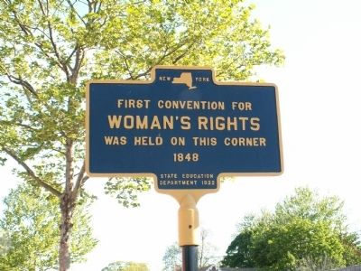 First Convention For Woman's Rights Marker image. Click for full size.