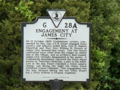 Engagement at James City Marker image. Click for full size.