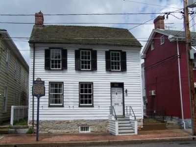 House where John Brown boarded. image. Click for full size.