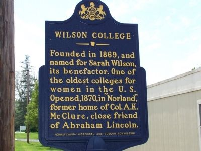 Wilson College Marker image. Click for full size.