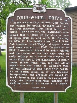 Four–Wheel Drive Marker image. Click for full size.
