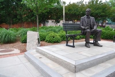 Dr. Charles Hard Townes Marker and Statue image. Click for full size.