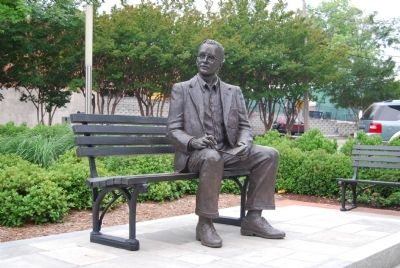 Dr. Charles Hard Townes Statue image. Click for full size.