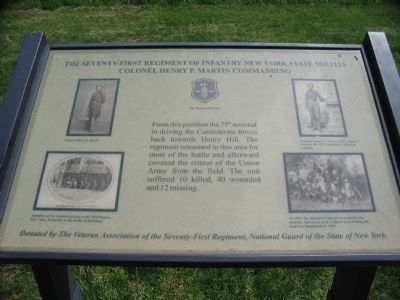 The Seventy-First Regiment Marker image. Click for full size.