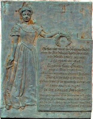First Woman's Rights Convention Marker image. Click for full size.