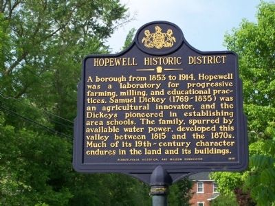 Hopewell Historic District Marker image. Click for full size.