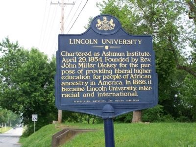 Lincoln University Marker image. Click for full size.