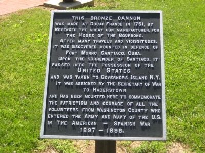 This Bronze Cannon Marker image. Click for full size.