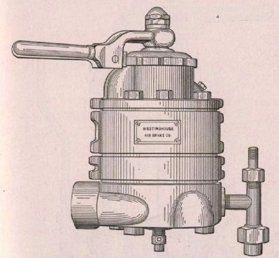 Control handle and valve for a Westinghouse Air Brake image. Click for full size.
