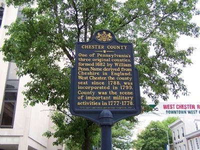 Chester County Marker image. Click for full size.