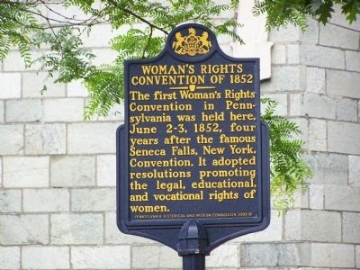 Woman's Rights Convention of 1852 Marker image. Click for full size.