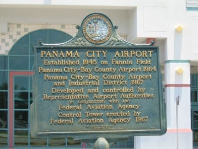 Panama City Airport Marker image. Click for full size.